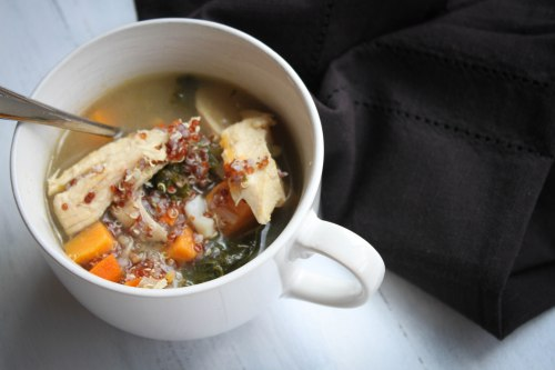 chicken quinoa root vegetable soup