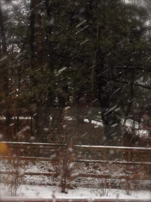 Snow storm Saturn