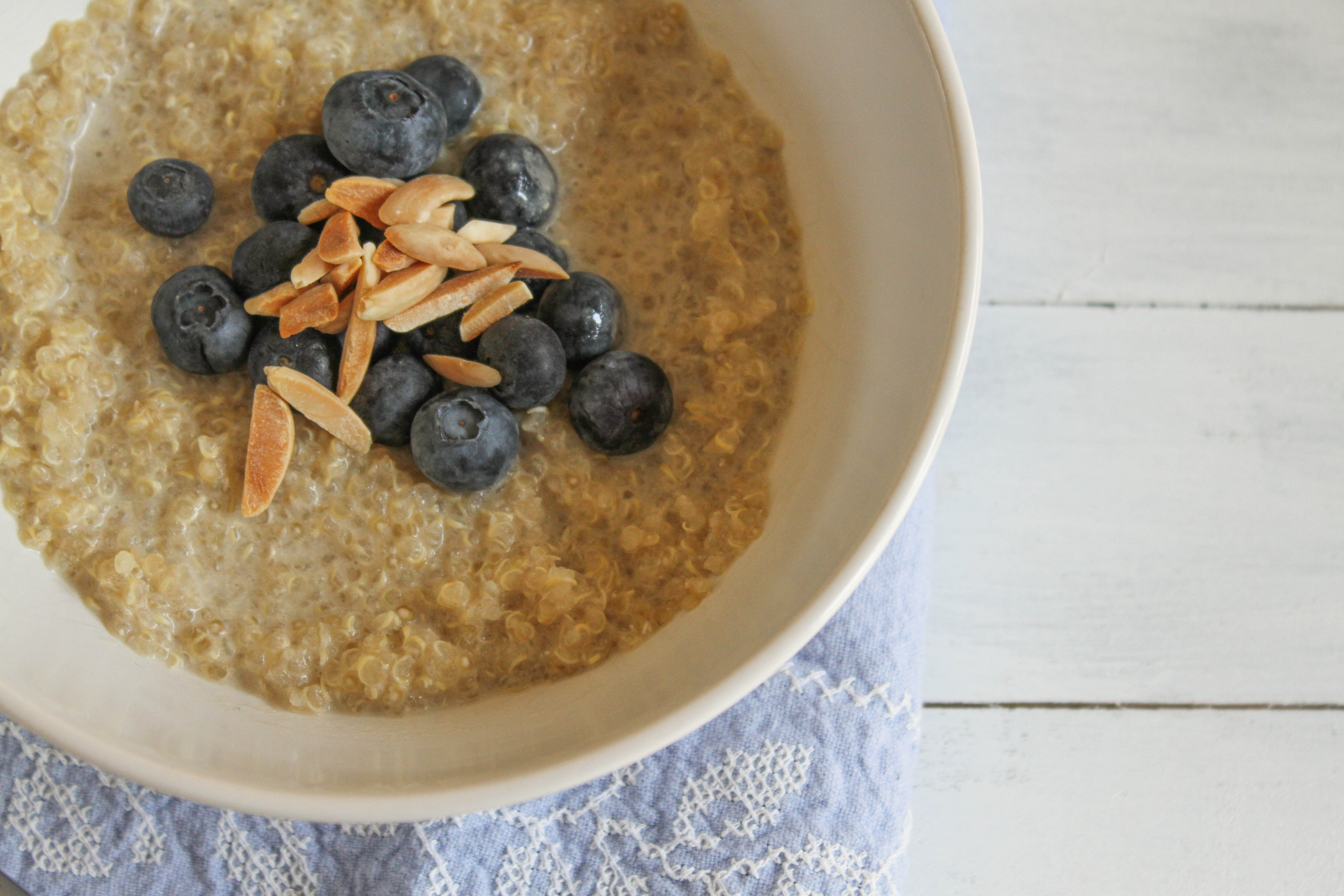 breakfast quinoa porridge with coconut milk and toasted almonds ...